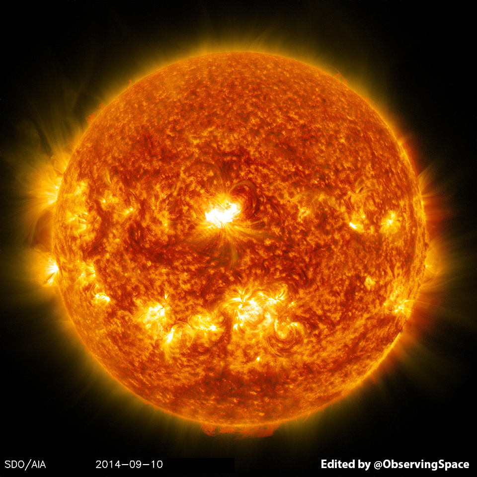 Composite image of the sun on Sep. 10, 2014