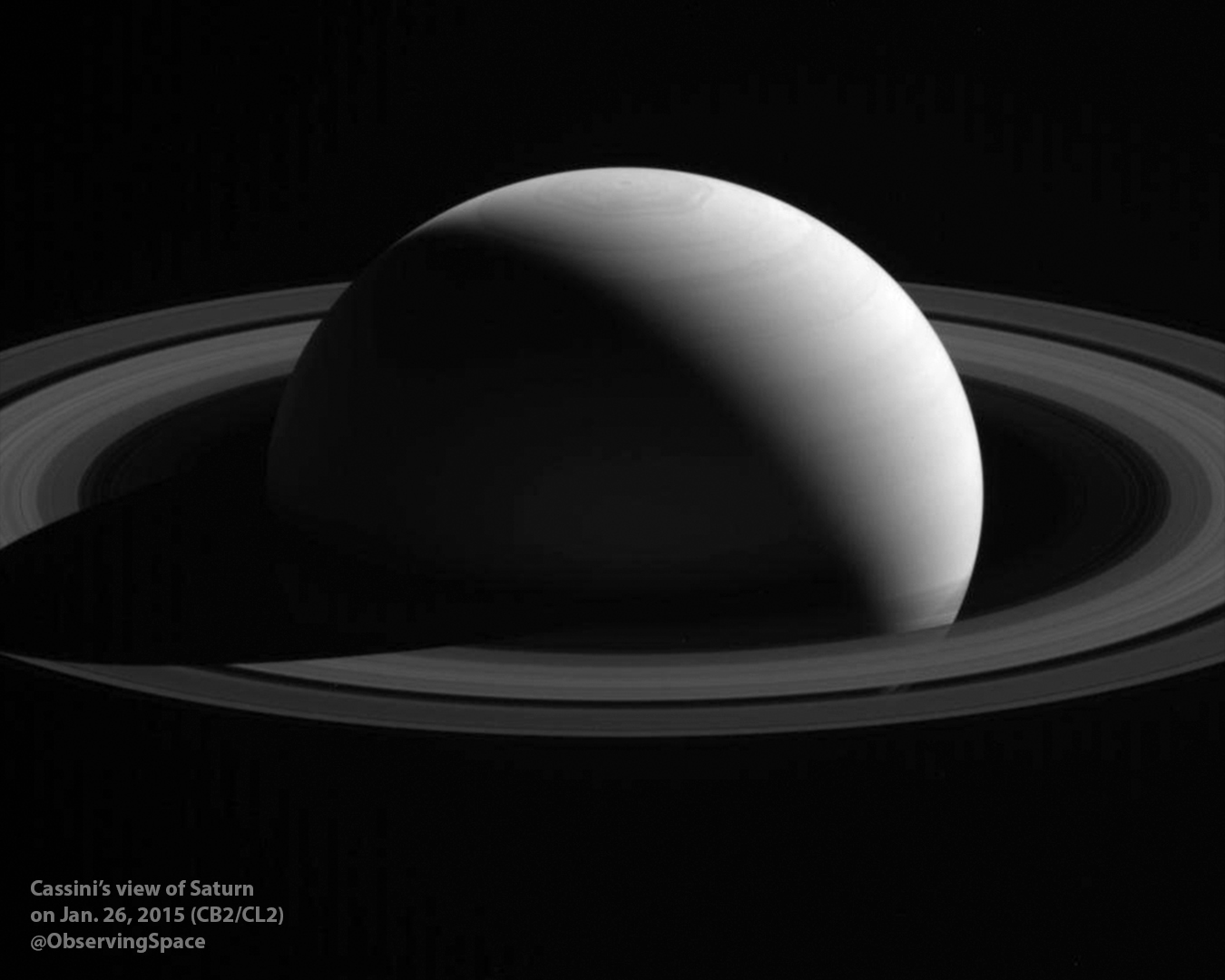 Saturn on Jan. 26, 2015