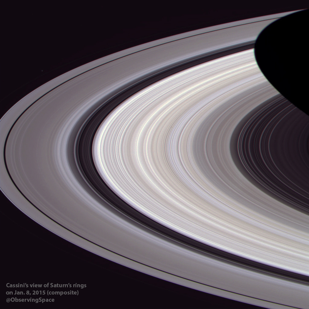 Saturn's rings on Jan. 8, 2015