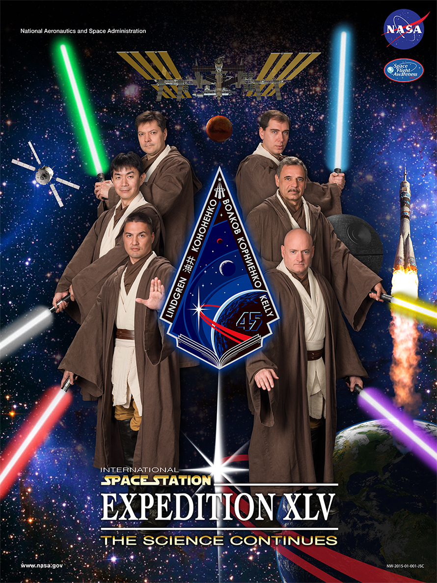 ISS Expedition 45 crew poster