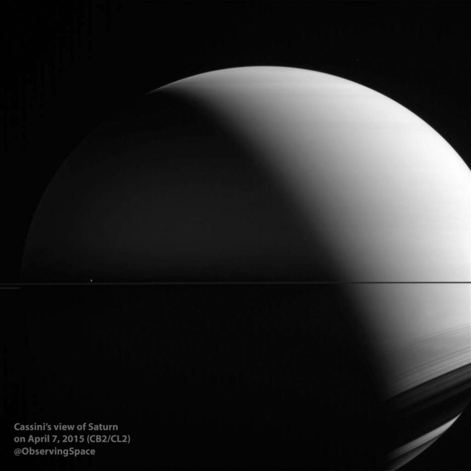 Saturn on April 7, 2015