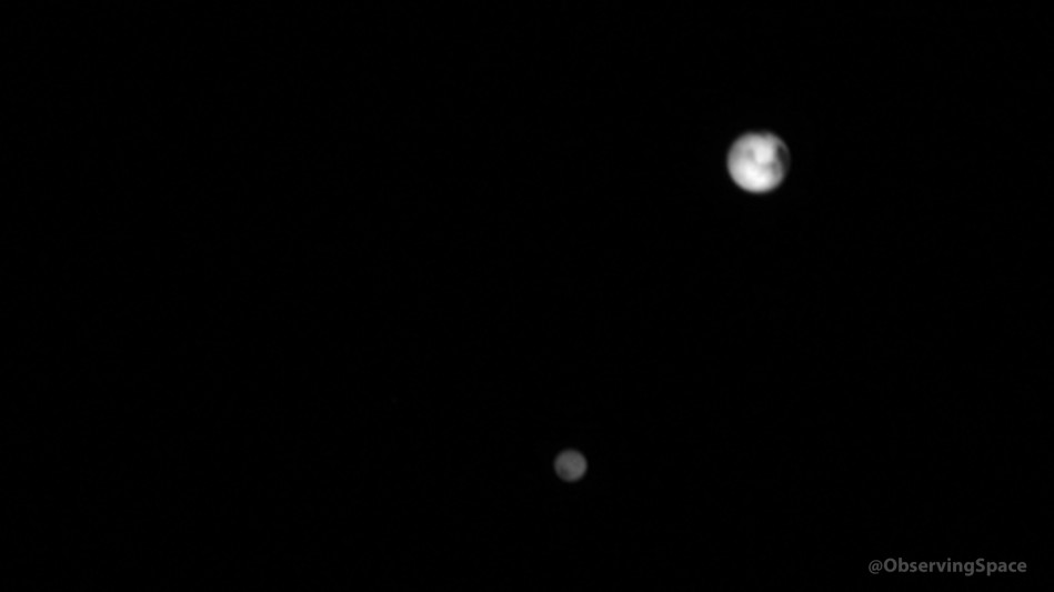 Pluto & Charon on July 1, 2015 - 04:18:10 UTC